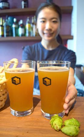 京都府与謝野町産のホップを使ったクラフトビール(京都市中京区・スプリングバレーブルワリー京都)