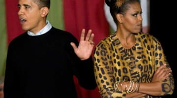 Michelle Obama Dresses as a leopard for Halloween