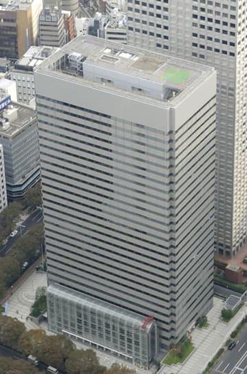 オリンパス本社が入るビル=東京都新宿区