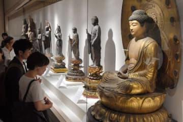 通常非公開の仏像を中心に展示された比叡山至宝展(大津市・延暦寺国宝殿)