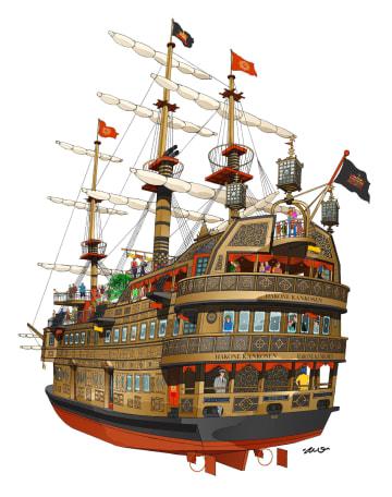 新造する「箱根海賊船」の完成予想図