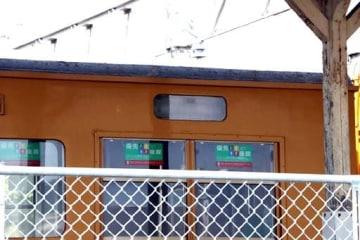 光駅で停車中に方向幕が盗難に遭った車両