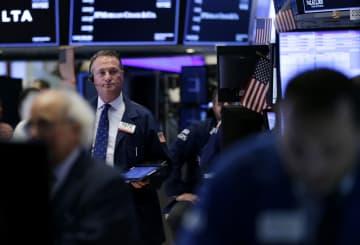 1日のニューヨーク証券取引所(UPI=共同)