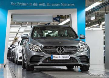 メルセデスベンツ Cクラス 改良新型の量産第一号車がドイツ・ブレーメン工場からラインオフ