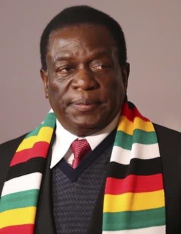 ジンバブエ大統領選で勝利したエマーソン・ムナンガグワ氏(AP=共同)