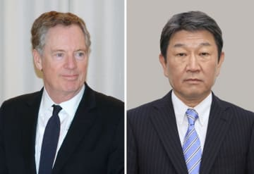 顔 Lighthizer and Motegi