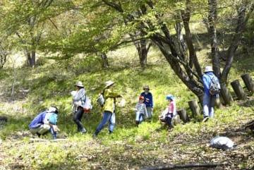 福井県福井市のリズムの森=2017年4月