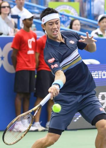 Tennis: Nishikori at Citi Open