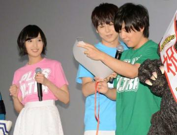 (左から)佐倉綾音、梶裕貴、山下大輝