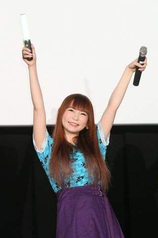 「劇場版ポケットモンスター みんなの物語」の応援上映イベントに登場した中川翔子さん