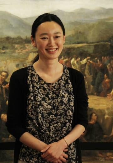 「潜伏キリシタンの伝統を残していくことが大切」と話す内島さん=長崎市、大浦天主堂キリシタン博物館