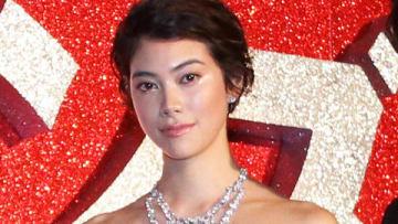 映画「オーシャンズ8」のジャパンプレミア試写会イベントに登場した森星さん
