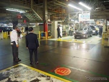 スバル・インディアナ工場の視察