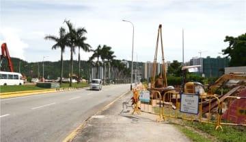 マカオLRT石排灣支線準備工事開始に伴い交通規制が予定されているタイパ・コロアン・コーズウェイ(写真:GIT)