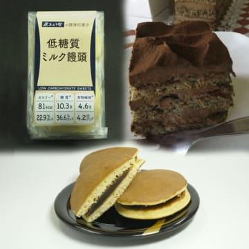 青森県が開発を目指す「健康志向スイーツ」。県内では、すでに商品化している菓子店、業者もある(写真はコラージュ)