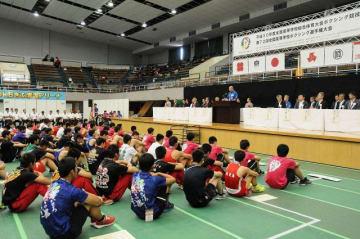 日本ボクシング連盟が助成金流用疑惑などに揺れる中で行われた全国高校総体=岐阜市のOKBぎふ清流アリーナ