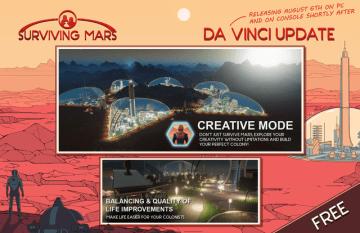 『Surviving Mars』無料アプデ「Da Vinci」配信開始!開拓を自由に楽しめるクリエイティブモードが追加