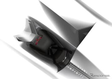 インフィニティの電動コンセプトカーのティザースケッチ