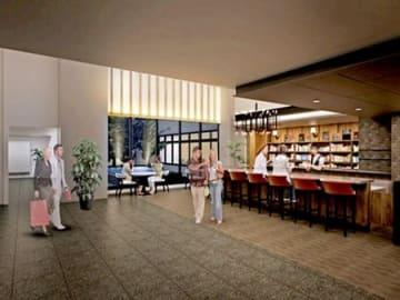 10月に京都市中京区のホテル内に開業予定の「ブルー ブックス カフェ 京都」のイメージ図