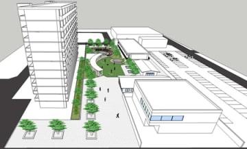平和堂安曇川店跡地の再開発イメージ