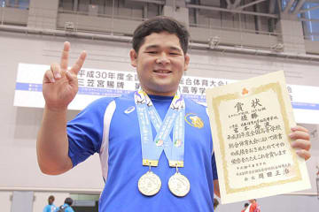 日体大柏唯一の金メダル2個を獲得した宮本海渡