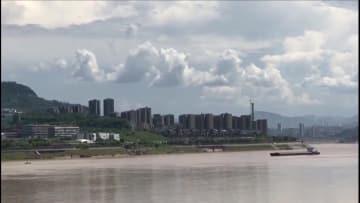 重慶市の長江河畔に珍しい蜃気楼が出現