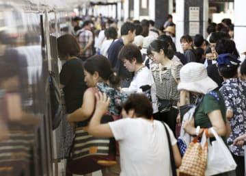 Summer holiday exodus in Japan