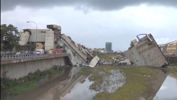 伊で高速の橋崩落22人死亡 車数十台が転落
