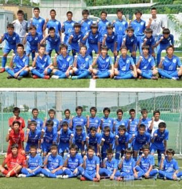 (上から)全員で攻守に連動するサッカーで上位進出を目指す前橋FC、個での打開をテーマに上位進出を狙う前橋ジュニアユース
