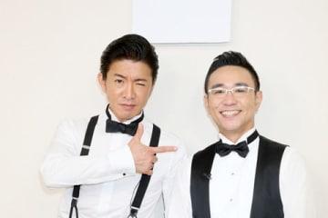 LINE LIVEの「さしめし」に出演する木村拓哉さん(左)と八嶋智人さん