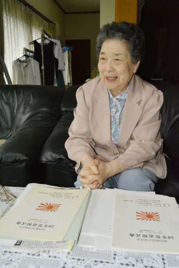「悲劇を繰り返さないで」と訴える中居京子さん=10日、八戸市