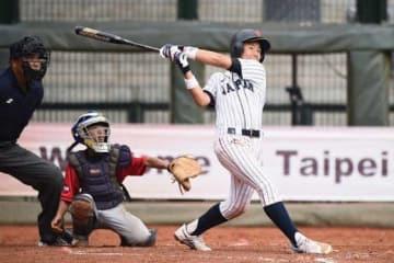 本塁打を放った侍ジャパンU-12代表・栗山大成【写真:Getty Images】