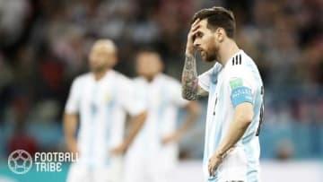 ロシアW杯後に混迷深めるアルゼンチン代表にメッシ年内欠場という大打撃