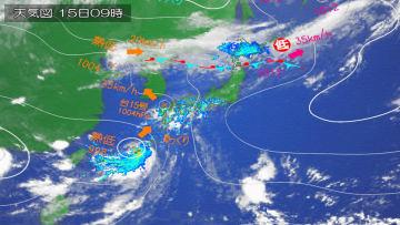 西日本、北陸、東北は大雨警戒