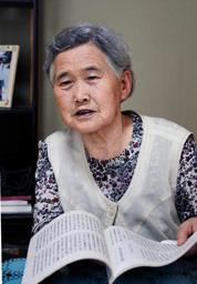 「残った家族のために働くだけ。青春時代はなかったね」と振り返る田中たね子さん=西脇市