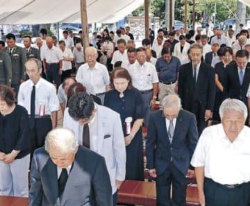 金沢でも平和祈願祭 護国神社、140人参列