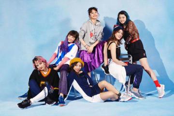 「リーボック」の最新モデル「DMX FUSION LITE」のキービジュアルモデルを務めたダンス・ボーカルグループ「E-girls」