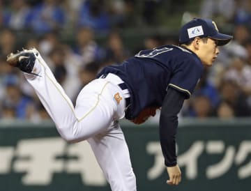 Taisuke Yamaoka of the Orix Buffaloes