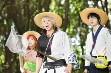 おなじみ万事屋のお三方 - (C) 空知英秋/集英社 (C) 2017 映画「銀魂」製作委員会
