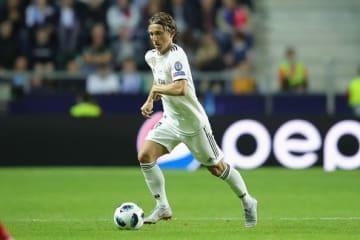 UEFAスーパー杯では途中出場したモドリッチだが、去就は最後までわからない? photo/Getty Images