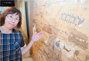 農村生活の近代化を伝える絵馬=大分市王子西町の県立先哲史料館