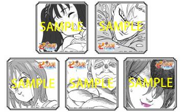 ▲ 佐々木啓悟描き下ろしのイラストコースター(全8種)