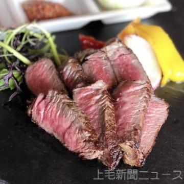出店するソーレマン(高崎市)の赤城牛鉄板ステーキ