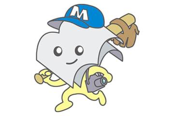 室蘭民報マスコットキャラクター「ムームーちゃん」(野球)