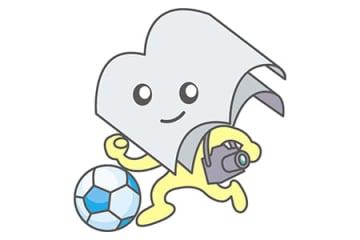 室蘭民報マスコットキャラクター「ムームーちゃん」(サッカー)