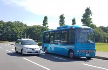 小田急と慶應義塾大学との連携によって実施された自動運転技術の実証実験の様子。(画像: 小田急電鉄の発表資料より)