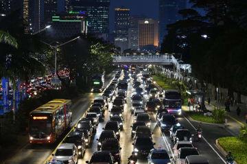 Traffic jam in Jakarta