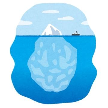 "<div class=""caption"">氷山の一角(イメージ)</div>"