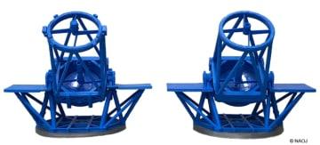 3Dプリンタで製作した「すばる望遠鏡」の立体模型 (c)NAOJ