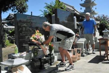 B29墜落の地で慰霊 邑楽 ゆかりある2米国人が訪問
